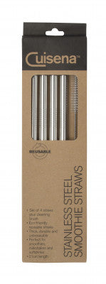 Stainless Steel Smoothie Straws, Cuisena
