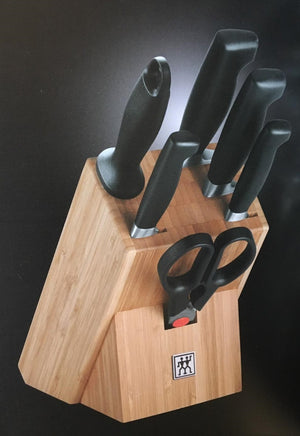 ZWILLING J.A. Henckel Four Star 7 Piece Knife Block Set - Knives - Heart Of Hall Cooking School Melbourne