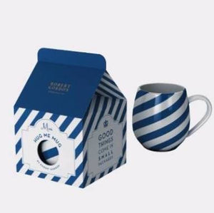 Robert Gordon Mini Hug Me Mug Blue Stripes - Homeware - Heart Of Hall Cooking School Melbourne