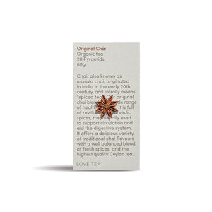 Organic Chai Tea 20 Pyramids 60g - Heart Of Hall