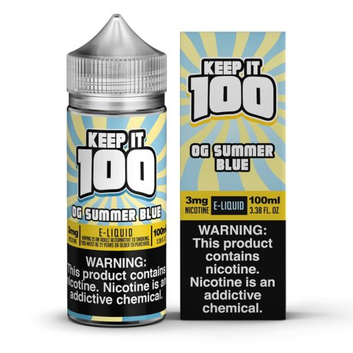 Keep it 100 OG Summer Blue Vape Juice 100ml