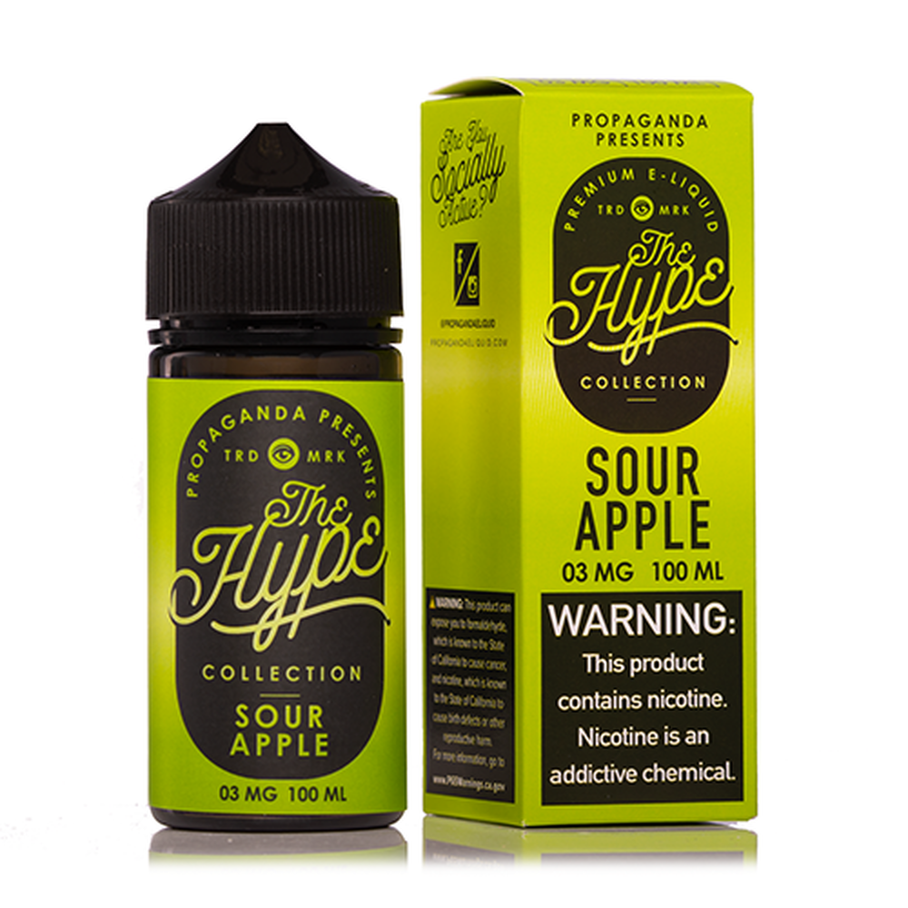 The Hype Sour Apple Vape Juice100ml