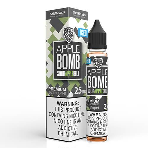 Vgod Apple Bomb Iced Nic Salt Vape Juice 30ml