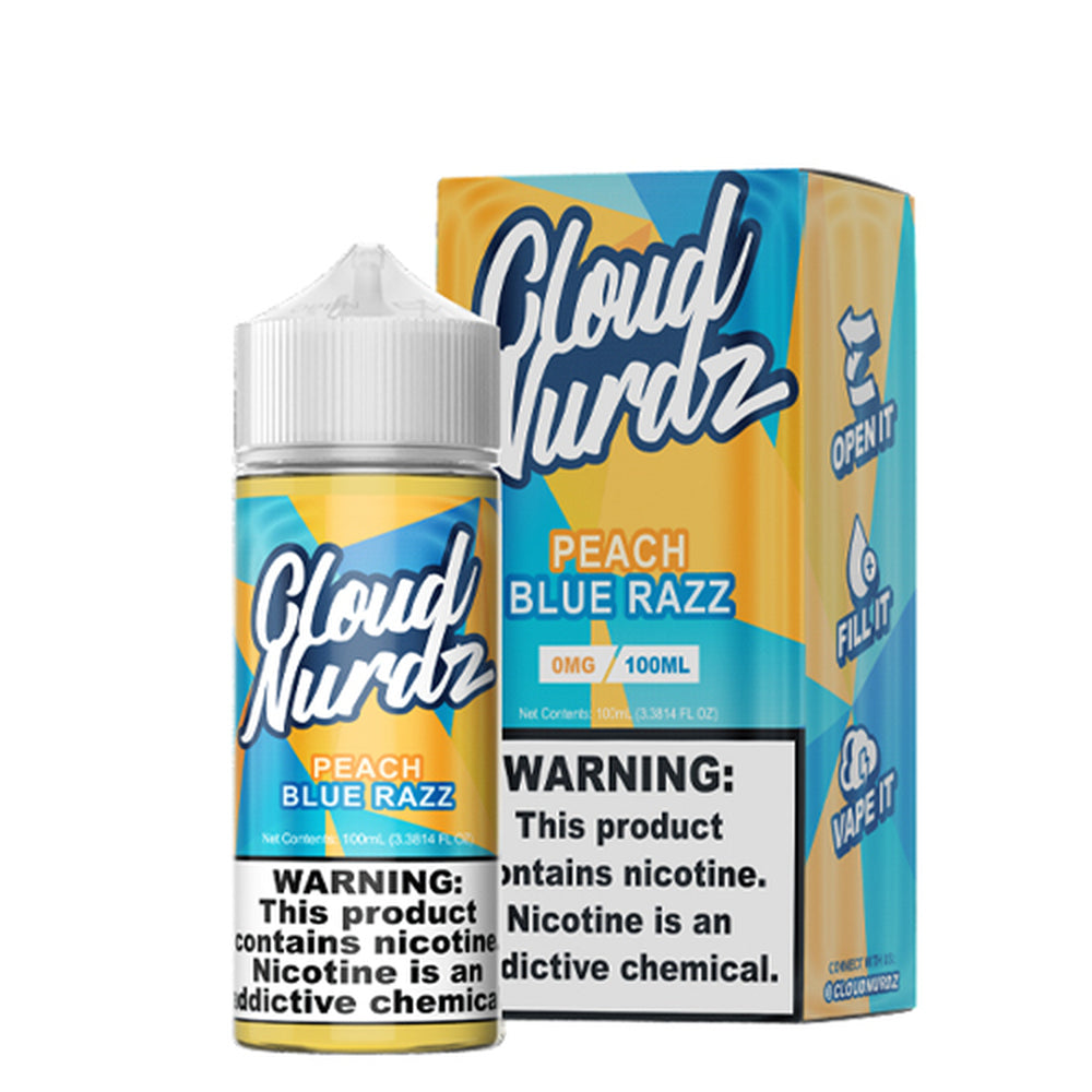Cloud Nurdz Peach Blue Razz E-Liquid 100ml