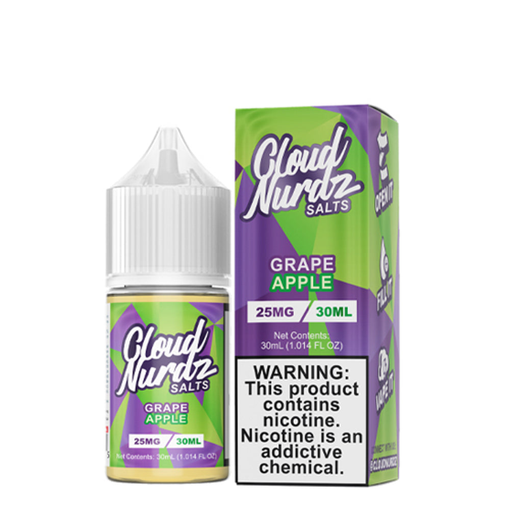 Cloud Nurdz Grape Apple Nic Salt E-Liquid 30ml