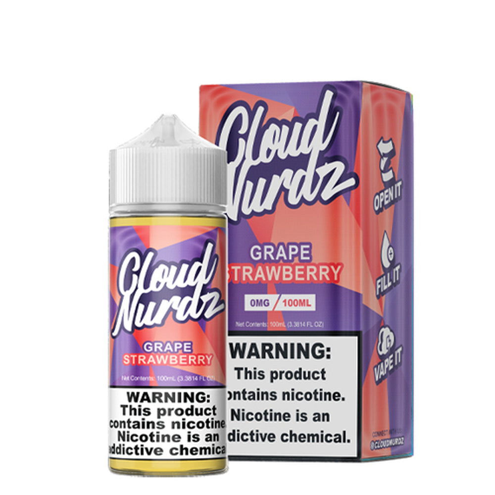 Cloud Nurdz Grape Strawberry E-Liquid 100ml