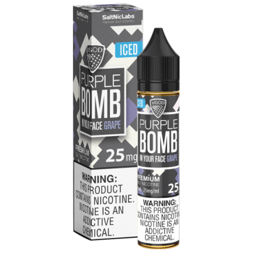 Vgod Purple Bomb Ice Salt Nic Vape Juice 30ml