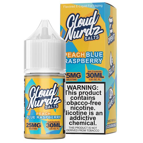 Cloud Nurdz Synthetic Peach Blue Raspberry Salt