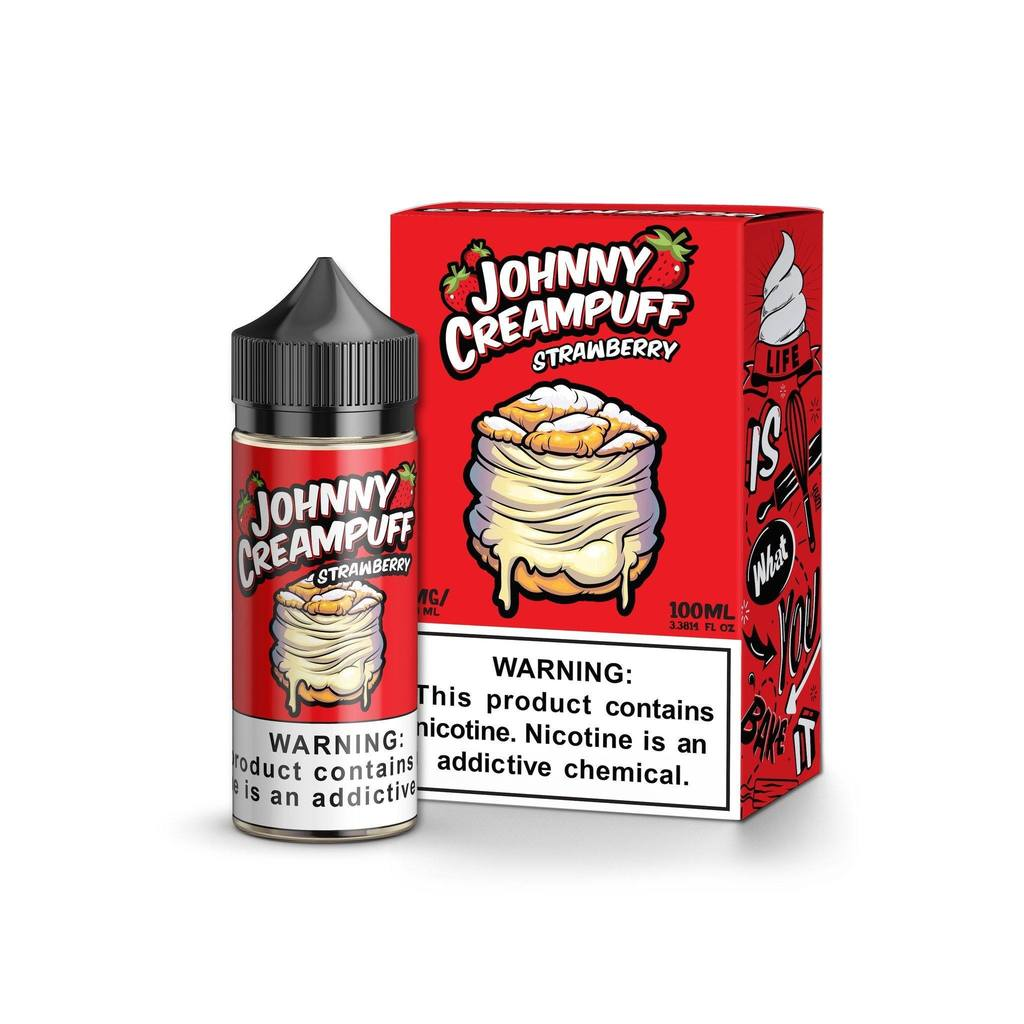 Johnny Creampuff Strawberry Vape Juice 100ml