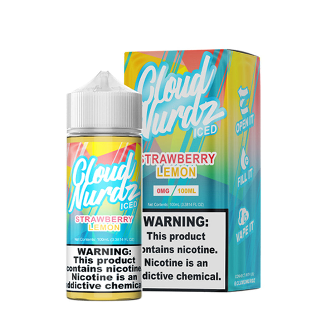 Cloud Nurdz Strawberry Lemon Iced E-Liquid 100ml