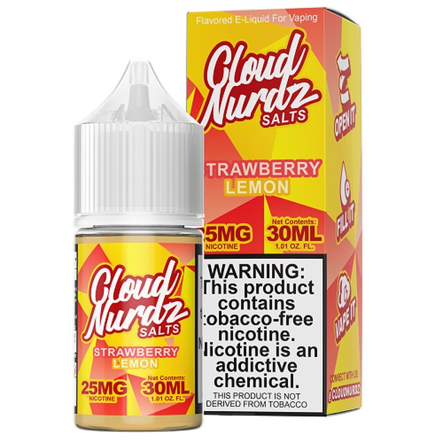 Cloud Nurdz Synthetic Strawberry Lemon Salt