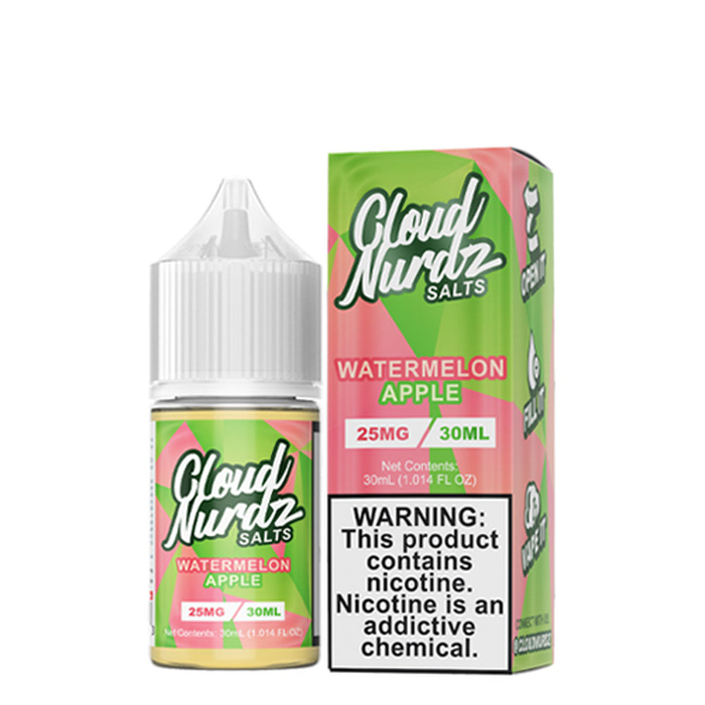 Cloud Nurdz Watermelon Apple Nic Salt E-Liquid 30ml