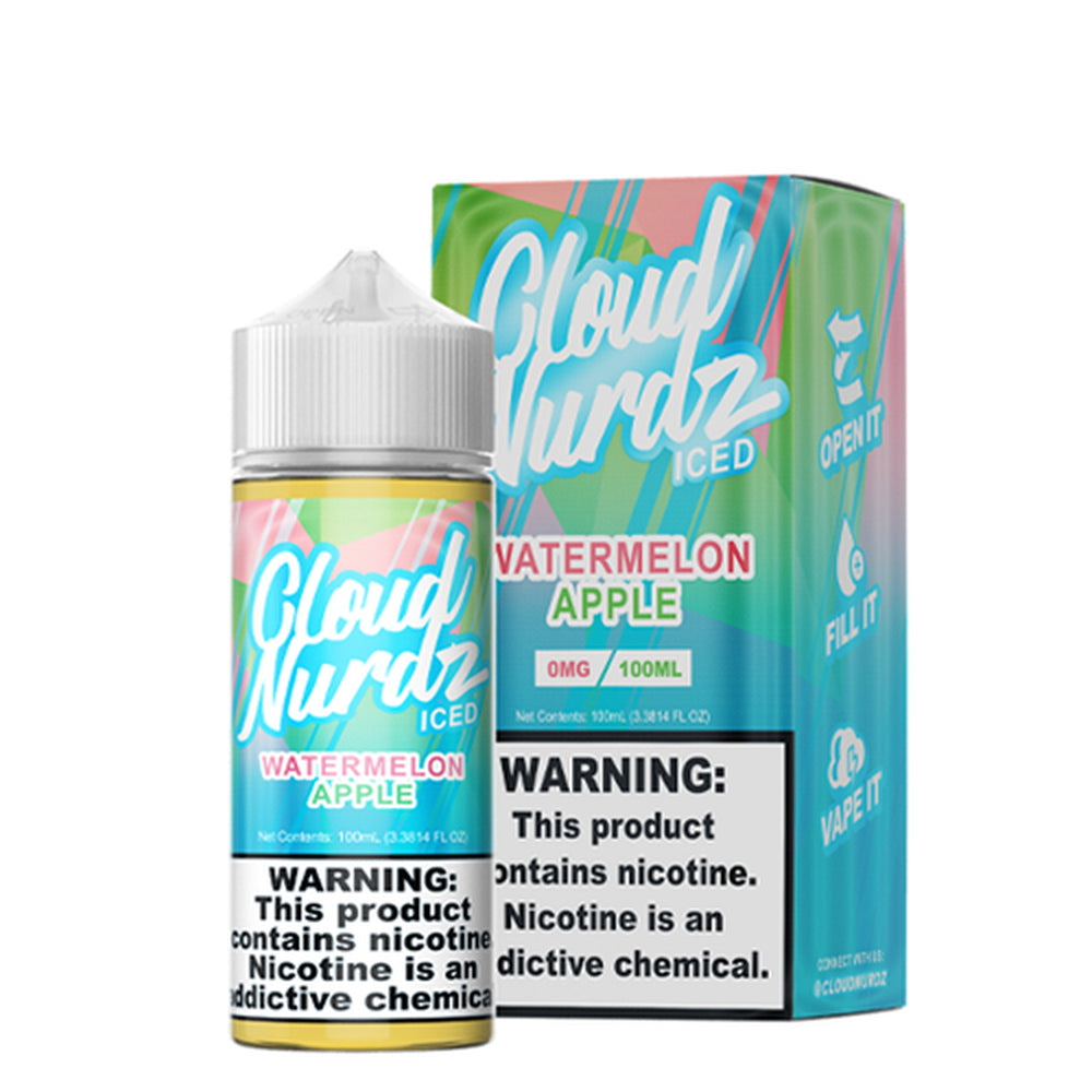 Cloud Nurdz Watermelon Apple Iced E-Liquid 100ml