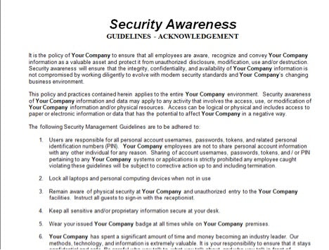 Security Awareness Guidelines