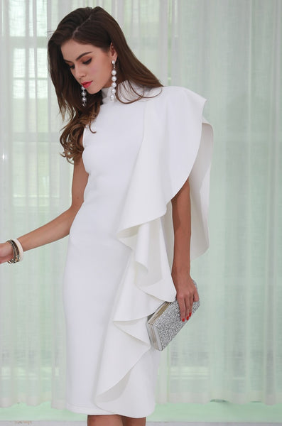 White Midi Dress - Jazmine & Yazmine Designer Boutique