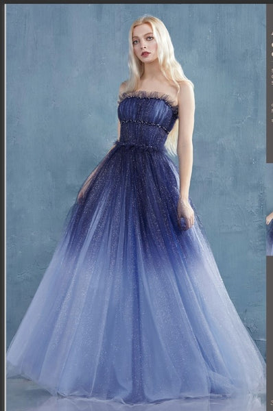 Andrea & Leo Couture A0953 Galina Gown Starry Sky