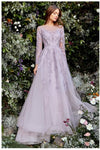 Andrea & Leo Couture A1024 Diana Long SLV Gown Regal, Elegant Yet Soft,