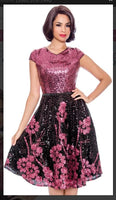 Annabelle Evening Collection 8738 1PC Cap Sleeve Evening Dress