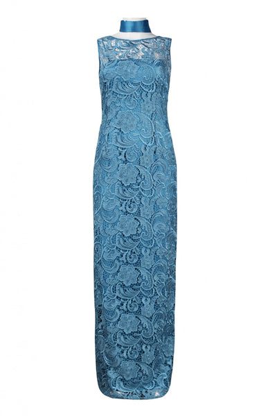 Adrianna Papell AP-081890040 Sleeveless Ankle Length Crochet Lace Dress - Jazmine & Yazmine Designer Boutique