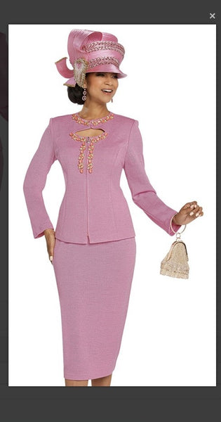 Donna Vinci 13270 2PC Jacket/Skirt Suit Exclusive Knitted Lurex Yarn