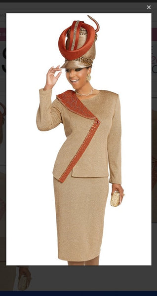 Donna Vinci 13274 2PC Jacket/Skirt Suit Exclusive Knitted Lurex Yarn - Jazmine & Yazmine Designer Boutique
