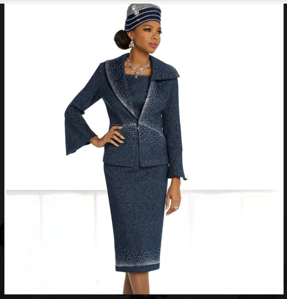 Donna Vinci Knit 13297 2PC Jacket/Skirt Suit Exclusive Knitted Wool Blend