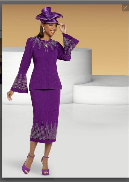 Donna Vinci KNITS Style 13305,  2 Pc. Jacket & Skirt Set