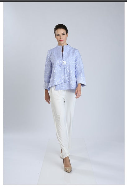 IC Collection 2125J Jacquard Asymmetric Jacket - Jazmine & Yazmine Designer Boutique