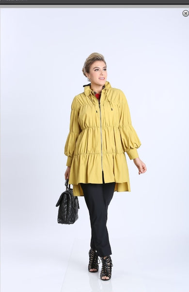 IC Collection 8420J 1PC Stand Up Collar W/ Zip-Up Jacket - Jazmine & Yazmine Designer Boutique