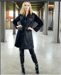 Just Vinci 16007 1pc Exclusive Multi Fabric Coat With Snaps Enclosure - Jazmine & Yazmine Designer Boutique