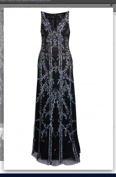 Aidan Mattox MD1E202877  Long Sequin Evening Gown