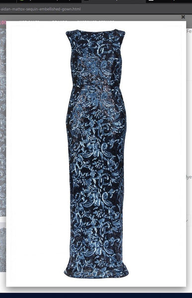 Aidan Mattox MD1E203098 Sequin Embellished Gown