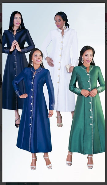 Tally Taylor Suits 4445 1PC Cassock Robe Fabric: Silk Look - Jazmine & Yazmine Designer Boutique