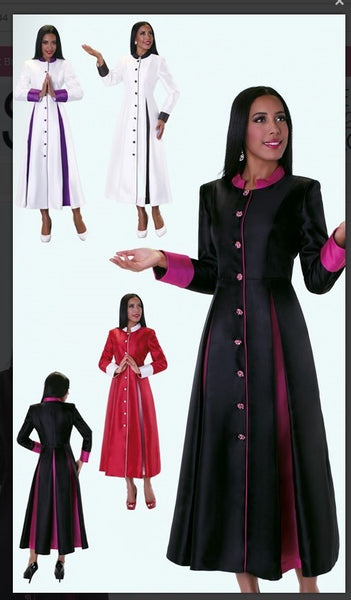 Tally Taylor 4544 1pc Silk Look Fabric Cassock Robe For Church - Jazmine & Yazmine Designer Boutique