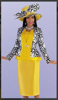 Tally Taylor 4695 3/PC Jacket/Skirt Cami Suit With Detachable Brooch - Jazmine & Yazmine Designer Boutique