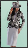 Tally Taylor 4696 3PC Jacket/Skirt/Cami Suit With Brocade And Silk Look Fabric - Jazmine & Yazmine Designer Boutique