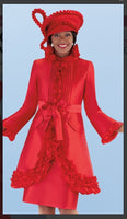 Tally Taylor 4702 2PC Dress/Jacket Suit With Ruffle Accent - Jazmine & Yazmine Designer Boutique