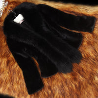Women Warm Fake Fur Coats S-3XL New Fashion FAUX Fur Coat Elegant Thick Warm Outerwear Fake Fur Jacket - Jazmine & Yazmine Designer Boutique