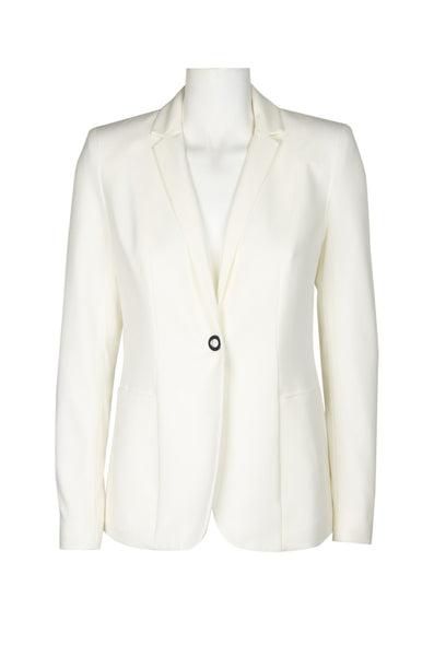 T. TAHARI  FD04J127 Notched Collar Button Long Sleeve Solid Stretch Crepe Jacket - Jazmine & Yazmine Designer Boutique