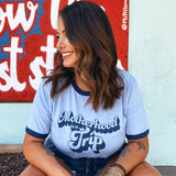 MOTHERHOOD IS A TRIP - UNISEX RINGER