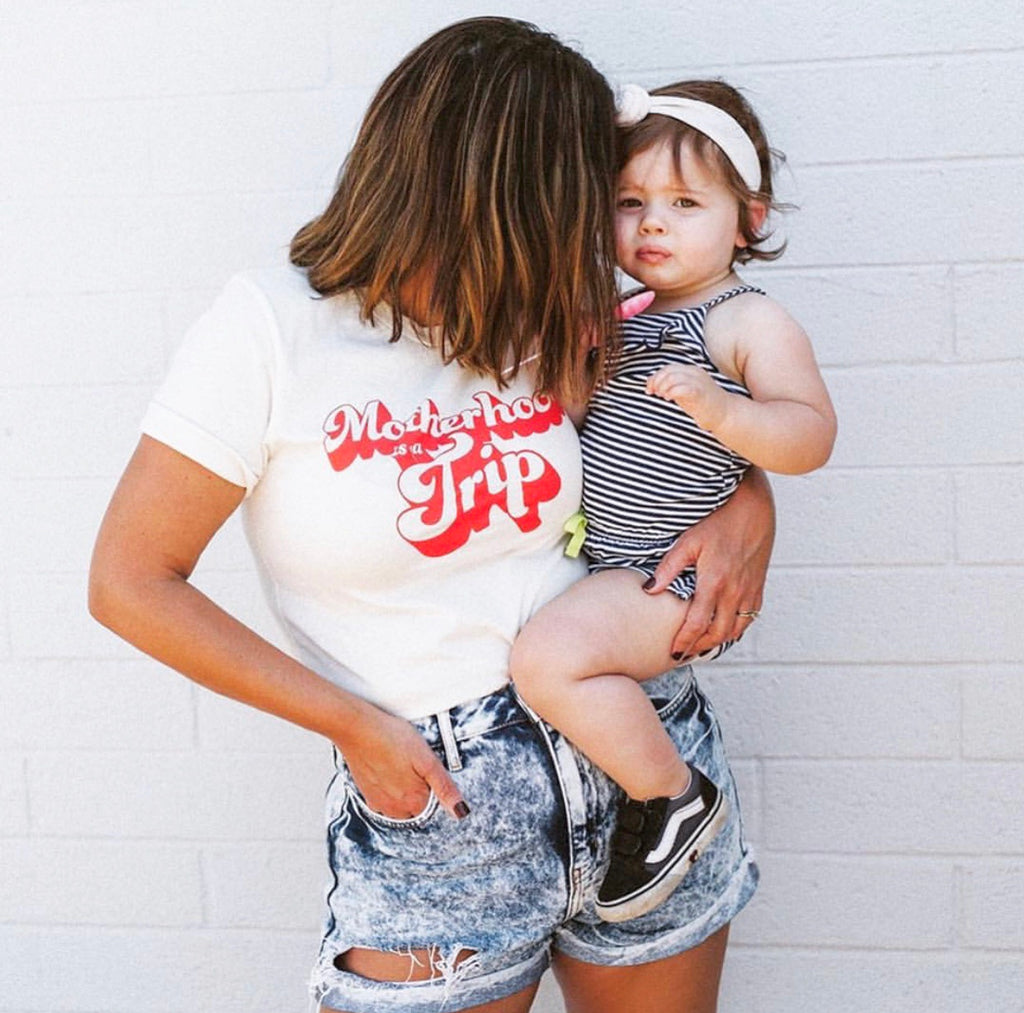 MOTHERHOOD IS A TRIP - UNISEX TEE