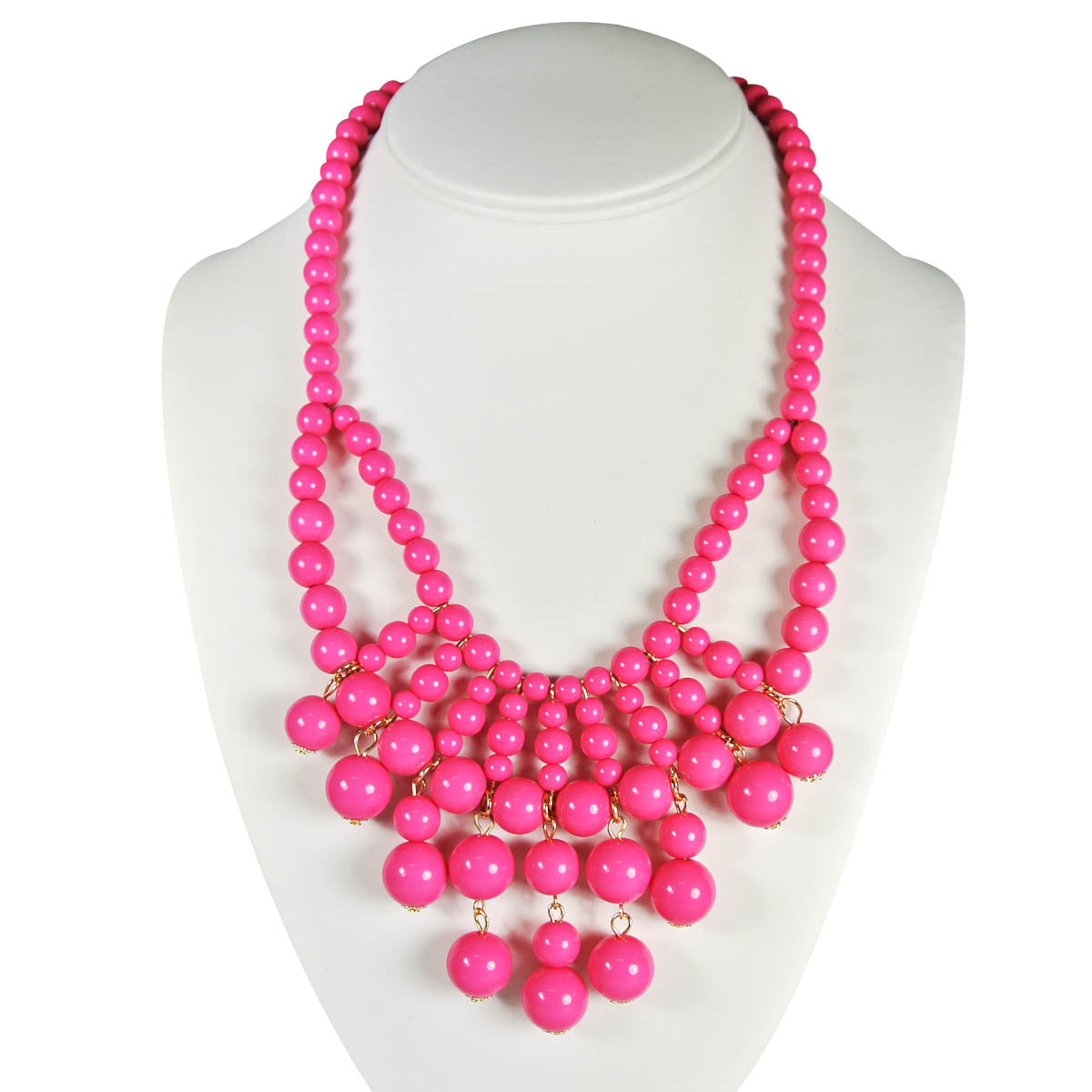 Wrapables Round Beaded Extravagant Bubble Bib Statement Necklace