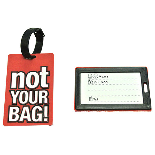 Wrapables Luggage Tags and ID Card with Attitude (set of 2)