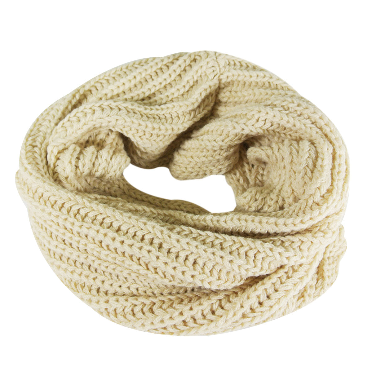 Wrapables Winter Cotton Wool Single Loop Circle Scarf