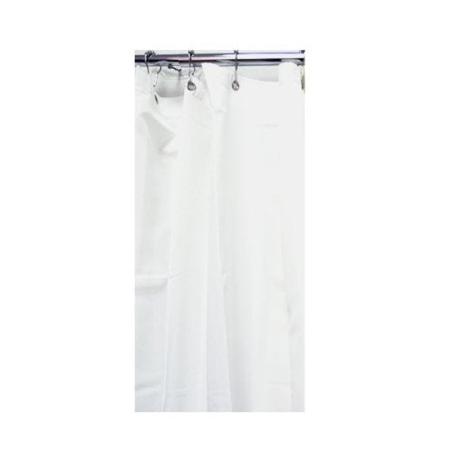 Hotel Fabric Shower Curtain Liner - White