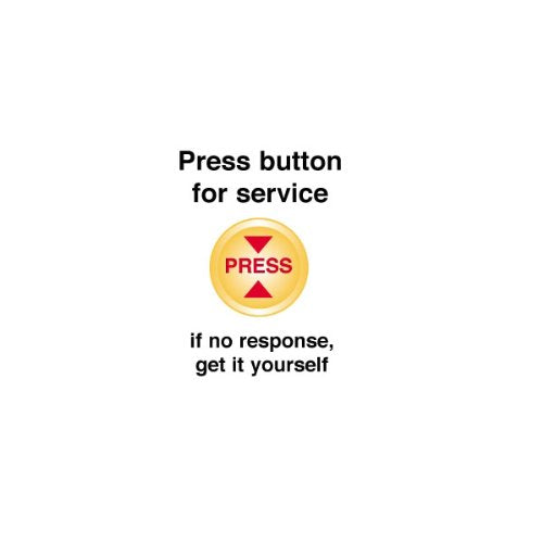 Service Button Apron