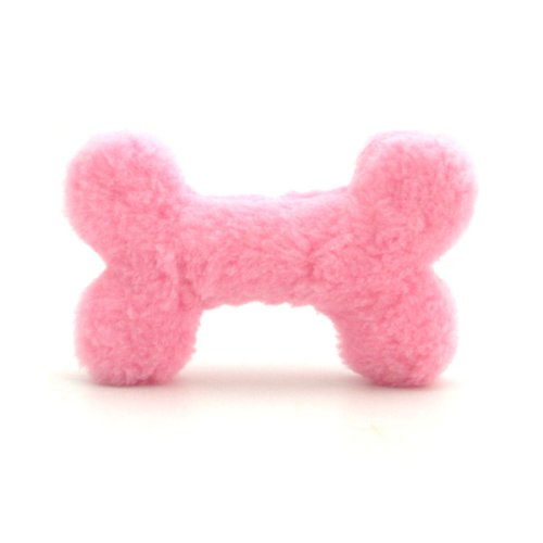 Pink Bone Plush Dog Toy - 10""
