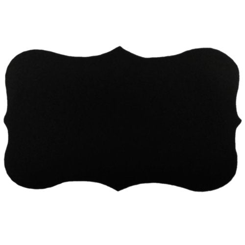 "Wrapables Set of 36 Chalkboard Labels / Chalkboard Stickers with Chalk Marker - 3.25"" x 2"" Fancy Rectangle"