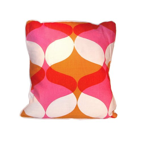 Water Throw Pillow - Coral & Orange