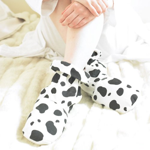 Cow Print Herbal Socks